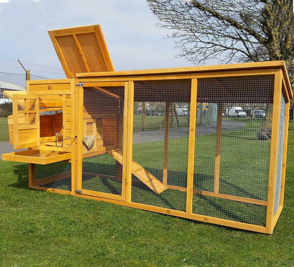 chicken coop run hen house poultry ark home nest box coup coops 5060168790309 ebay. Black Bedroom Furniture Sets. Home Design Ideas