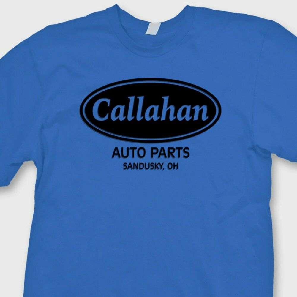 Callahan auto parts funny retro t shirt tommy boy movie for Warson motors t shirt