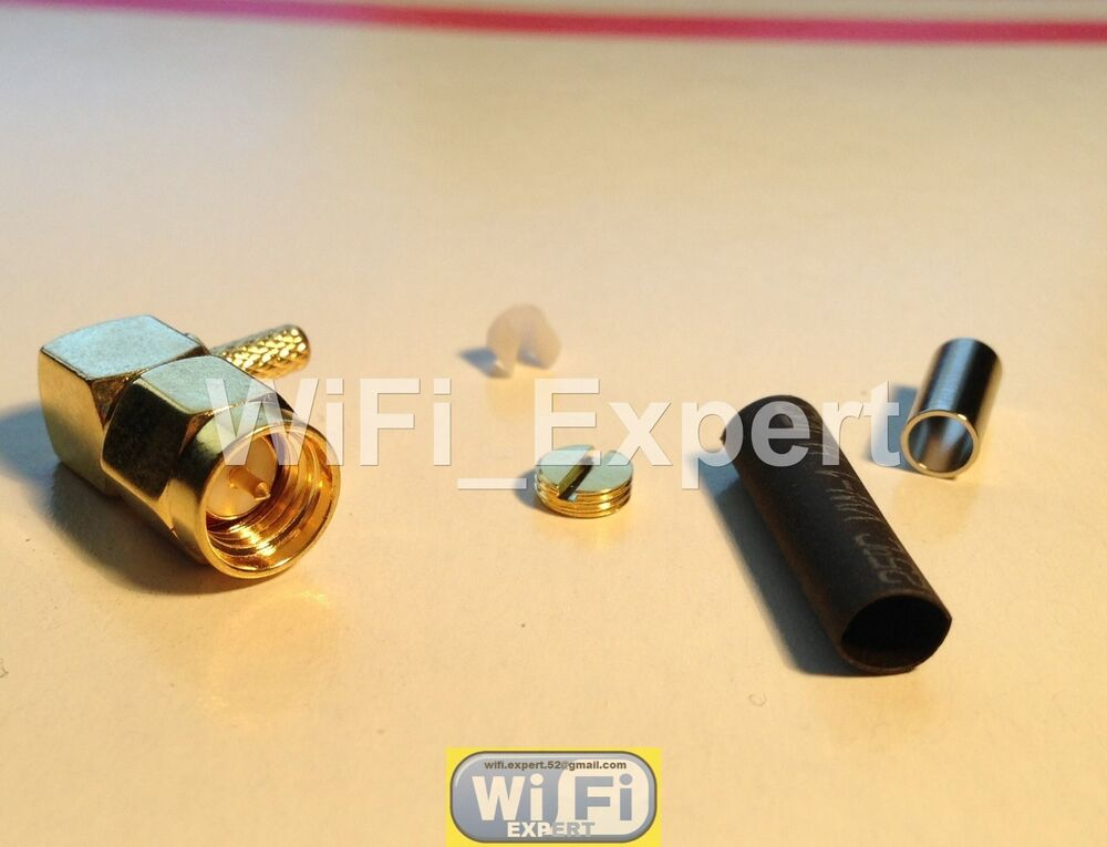 10x SMC Female Jack Straight Crimp For RG174 RG179 RG316 RG188 Cable Connector