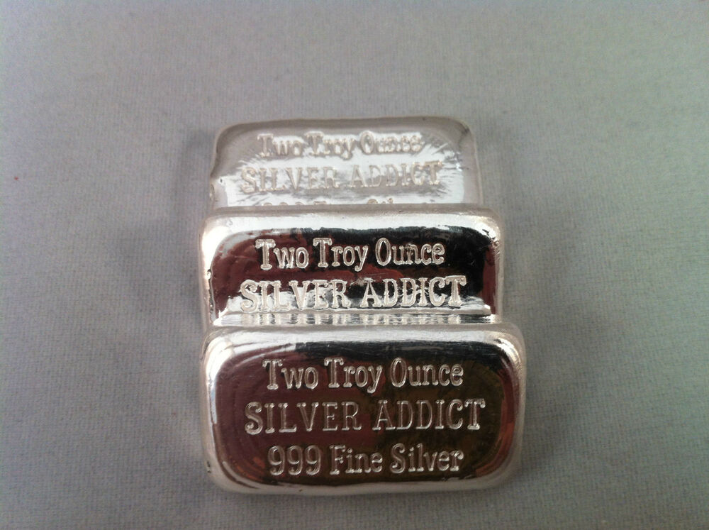 2oz Hand Poured 999 Silver Bullion Bar Quot Silver Addict Quot By