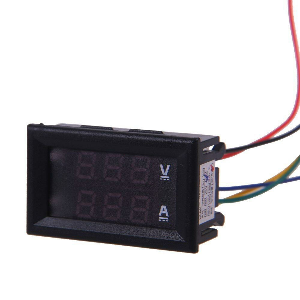 Digital Volt Meter : V a dc car auto digital voltmeter ammeter led amp