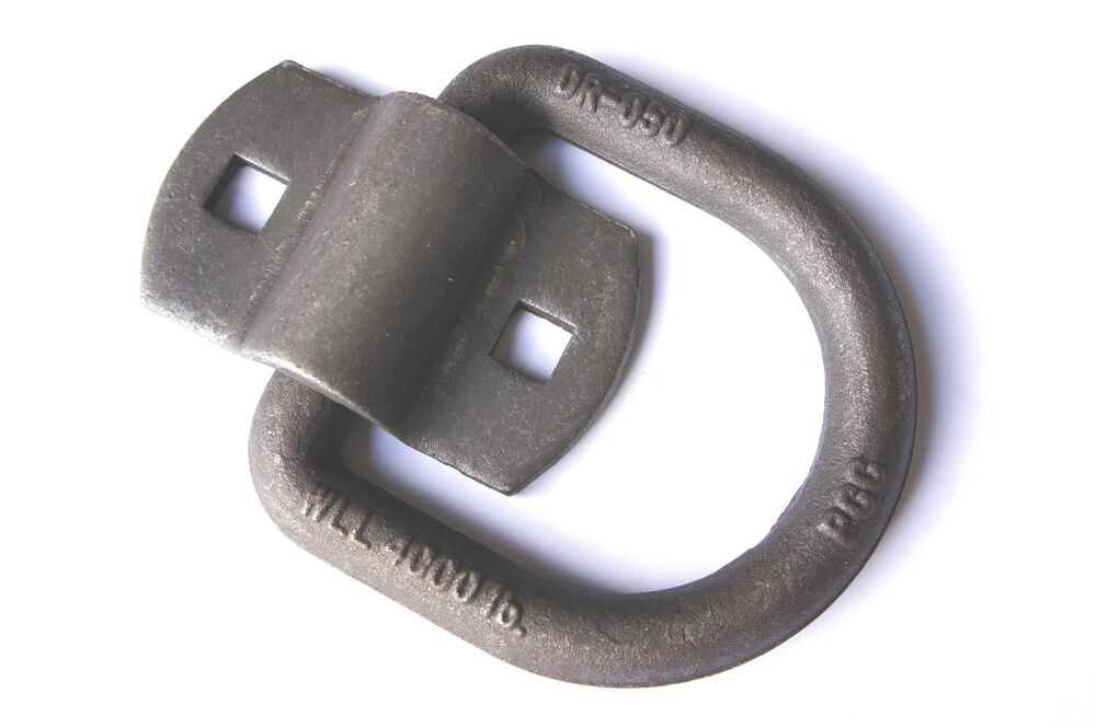 Bolt On Tie Downs : Quot d ring bolt on f car trailer tie down flatbed truck