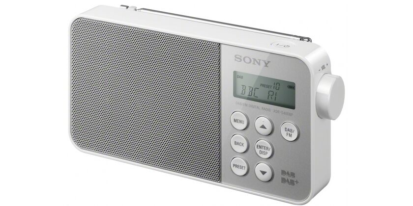 sony xdr s40dbp white portable dab radio brand new boxed new model ebay. Black Bedroom Furniture Sets. Home Design Ideas