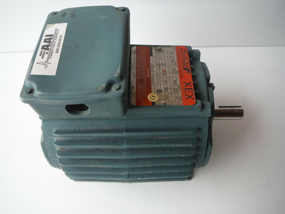 Reliance electric duty master ac motor 1 2hp 1725rpm ebay for Duty master ac motor reliance electric