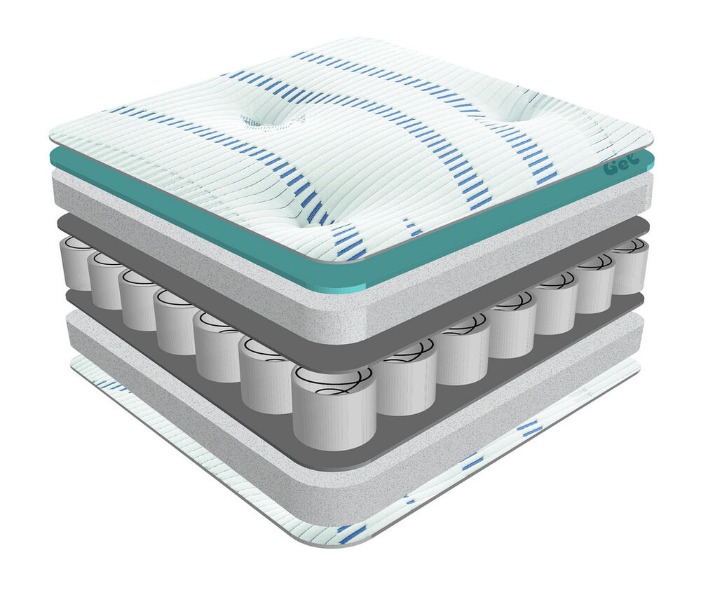 1500 Pocket Sprung Coolmax Memory Foam Encapsulated Mattress Single Double King Ebay