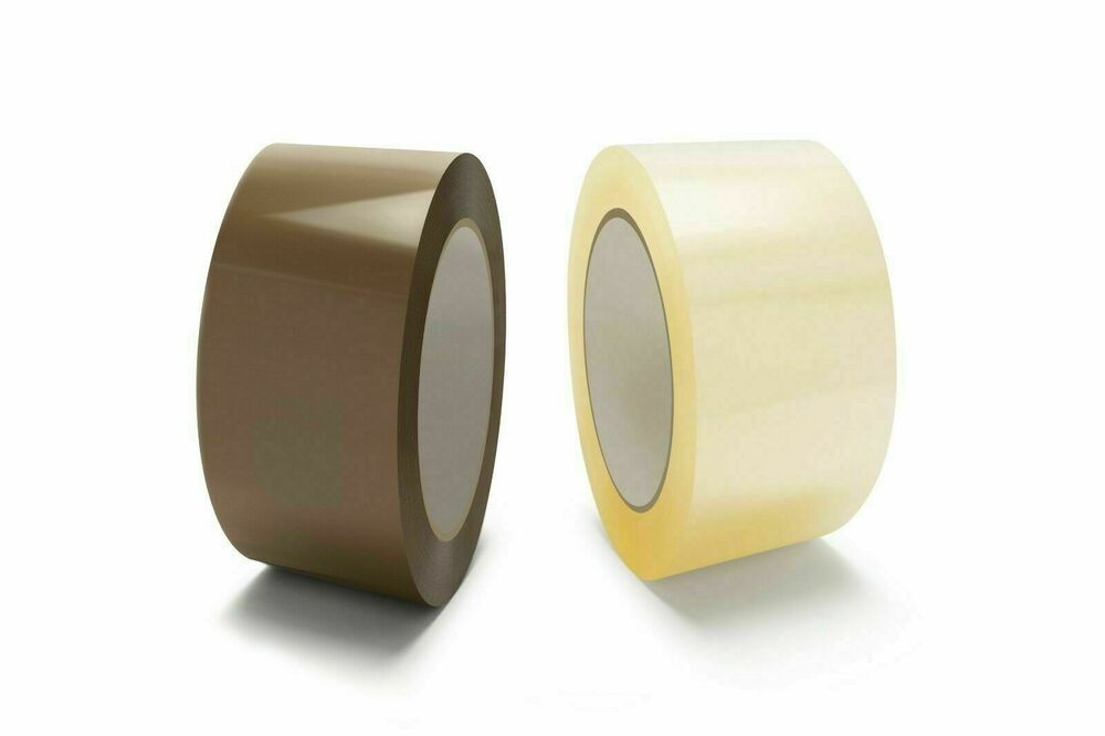 packing shipping tape box carton sealing 2 x 110 yards clear brown rolls ebay. Black Bedroom Furniture Sets. Home Design Ideas