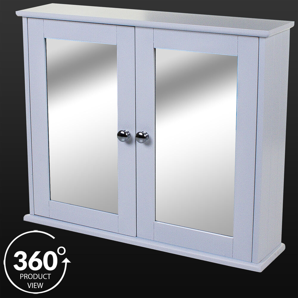 3 door mirrored bathroom cabinet white large wooden mirror door cabinet shelf white wall 24756