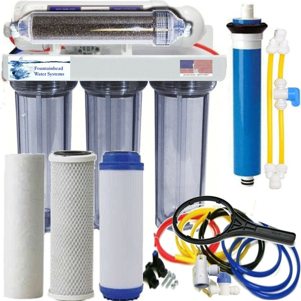 Ro di dual outlet drinking water aquarium filter core for Fish filter system