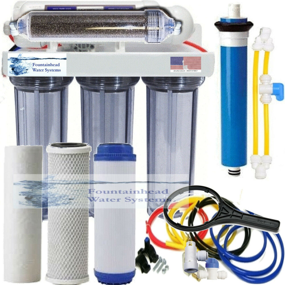 Ro di dual outlet drinking water aquarium filter core for Water garden filter systems