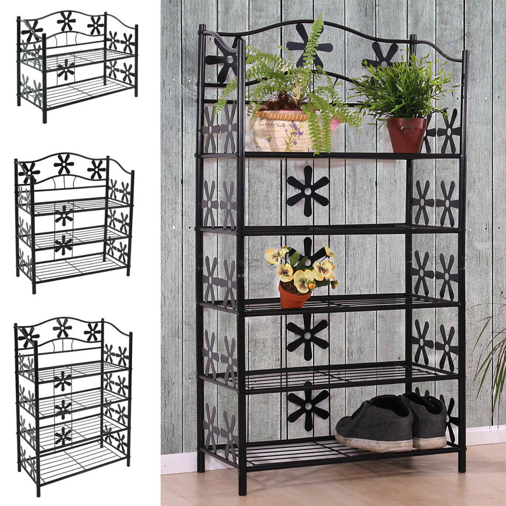 metall regal b cherregal schuhregal standregal badezimmer diele kinderzimmer neu ebay. Black Bedroom Furniture Sets. Home Design Ideas
