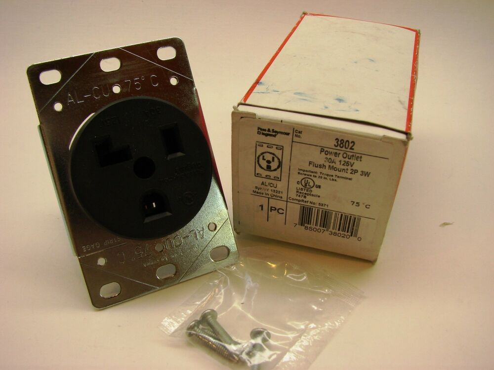 pass seymour 3802 specification grade outlet 2p 3w