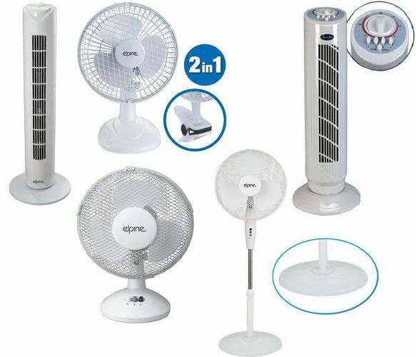 Small Quiet Electric Fans : Quot oscillating desk clip on fan stand electric tower