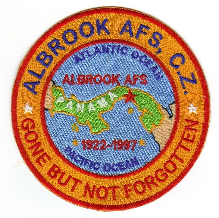 USAF BASE PATCH, ALBROOK AFS, CANAL ZONE, GONE BUT NOT