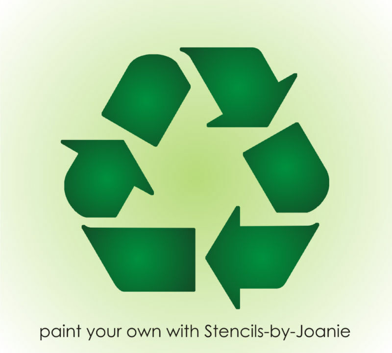Eco Stencil 4 Recycle Symbol Go Green Reuse U Paint Trash Bins