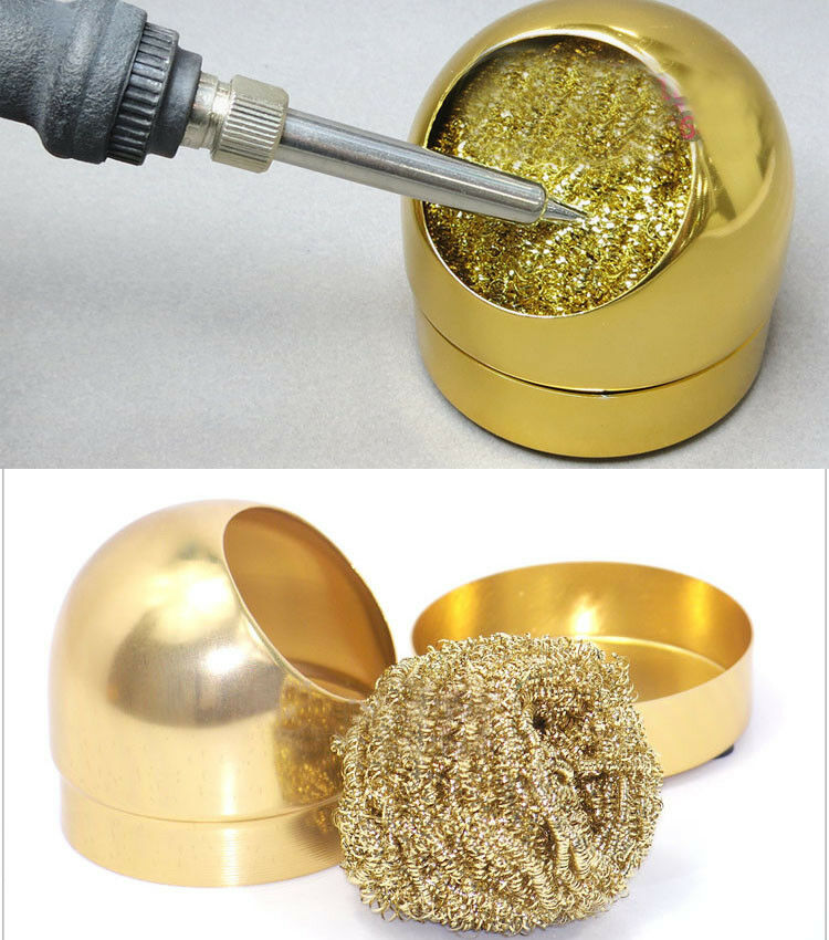 aluminum housing soldering iron tip nozzle cleaning cleaner sponge copper ball ebay. Black Bedroom Furniture Sets. Home Design Ideas