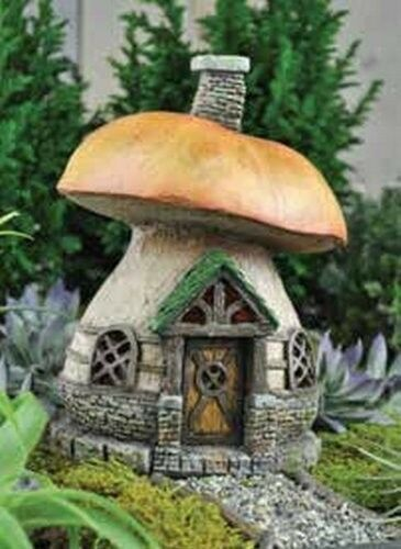 Fiddlehead Fairy Garden MUSHROOM COTTAGE HOME W/ Free Mini