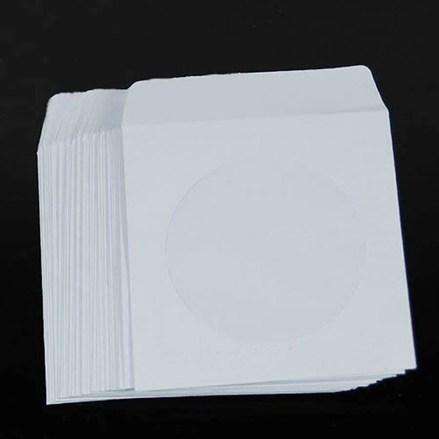 50 100 paper cd dvd flap sleeves case cover envelopes for 100 paper cd sleeves with window flap