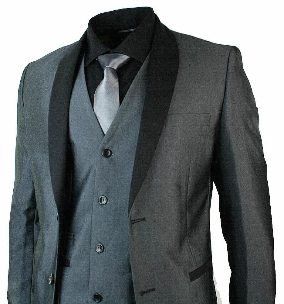 Mens Round Shawl Lapel Tuxedo Dinner Suit 3 Piece Wedding Prom Party ...: www.ebay.co.uk/itm/Mens-Round-Shawl-Lapel-Tuxedo-Dinner-Suit-3...