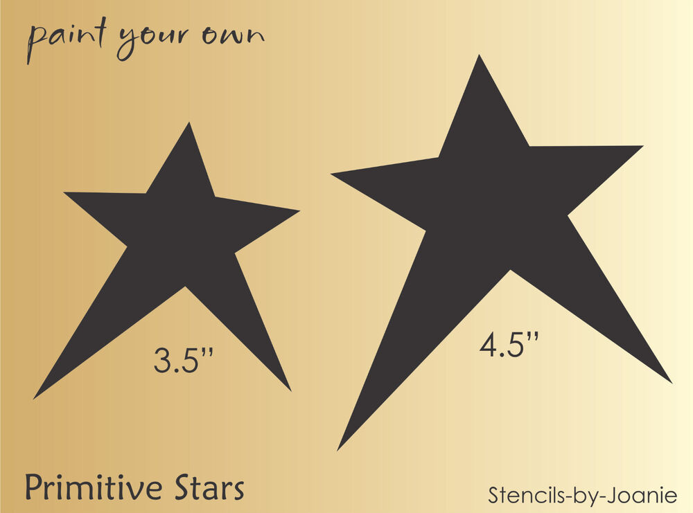 STENCIL Primitive Star Annie Template Crafts Cards