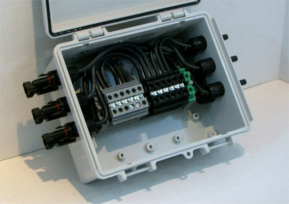 Solar Combiner Box 6 String Pv Panel Power Combiner