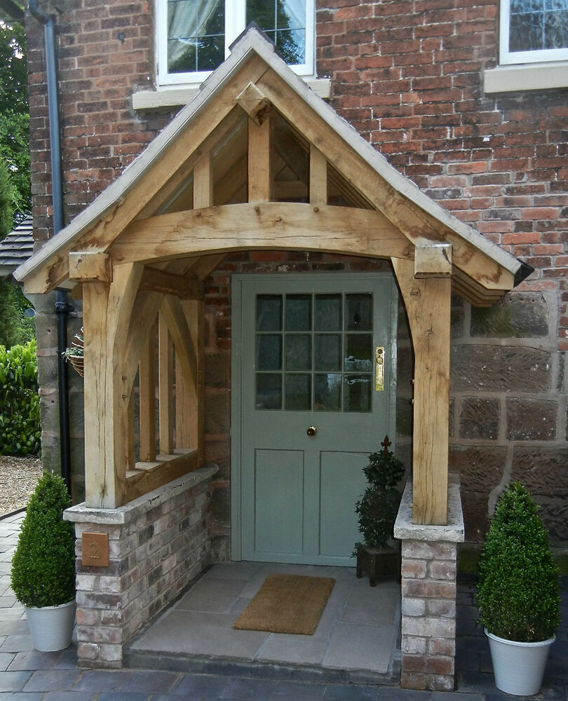 Wood Side Porch ~ Oak porch doorway wooden canopy entrance self