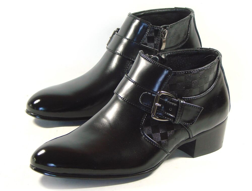 Mens Zipper Boots Mens Shoes