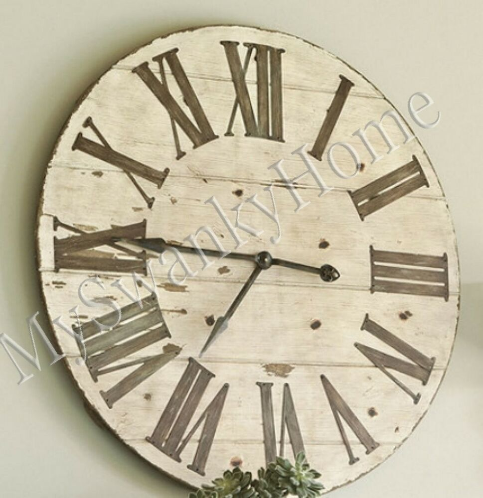 Large 36 Lanier Cottage Rustic Wood Wall Clock Neiman