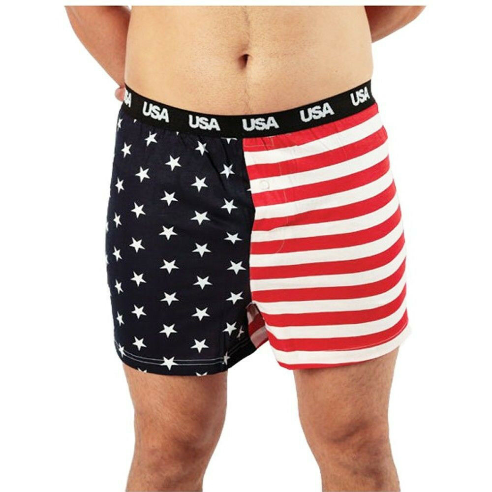 Show your American pride with these comfortable boxer shorts! Get yours now! % cotton boxers with the American Flag printed on these boxers available with a button fly front. American flag boxers for 4th of July, Memorial Day, Veteran's Day or any day.
