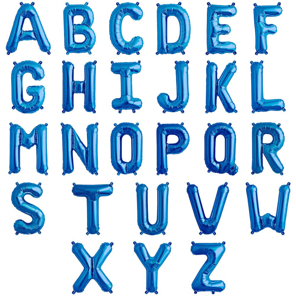 16 Quot Blue Alphabet Letter Birthday Party A Z Message Foil