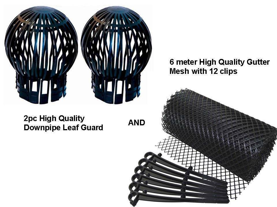 2 Pc Down Pipe Filter Amp 6m Gutter Mesh Stop Leaf Drain