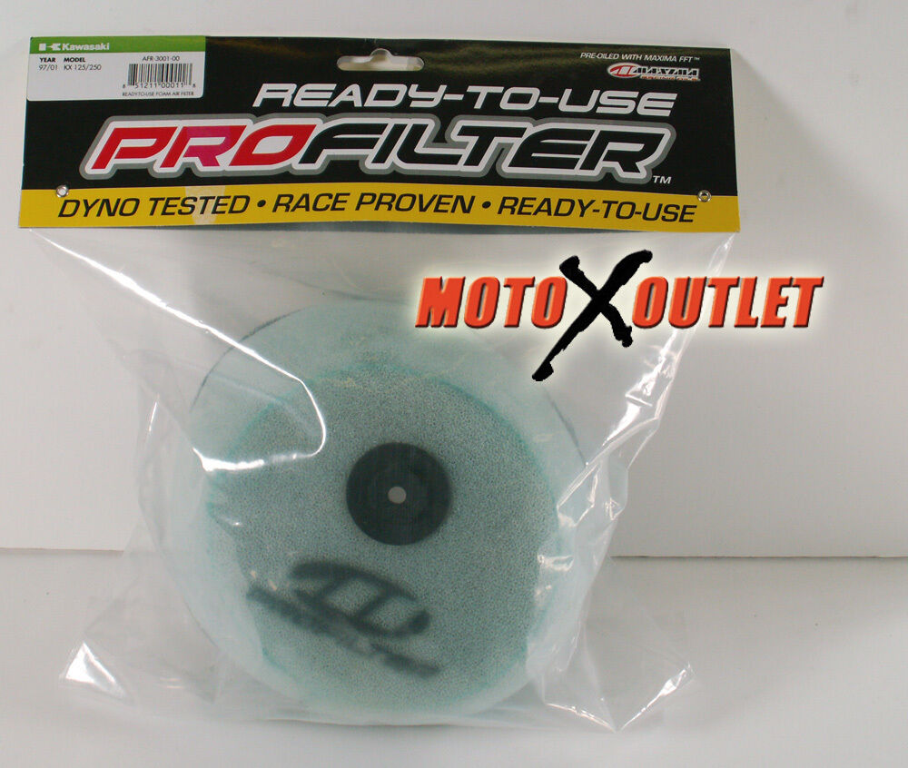 kawasaki kx 125 250 air filter maxima pro 1997 1998 1999