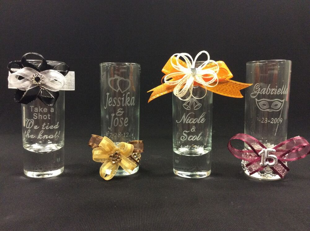 Personalized shot glasses party favors wedding favors for Wedding favor supplies