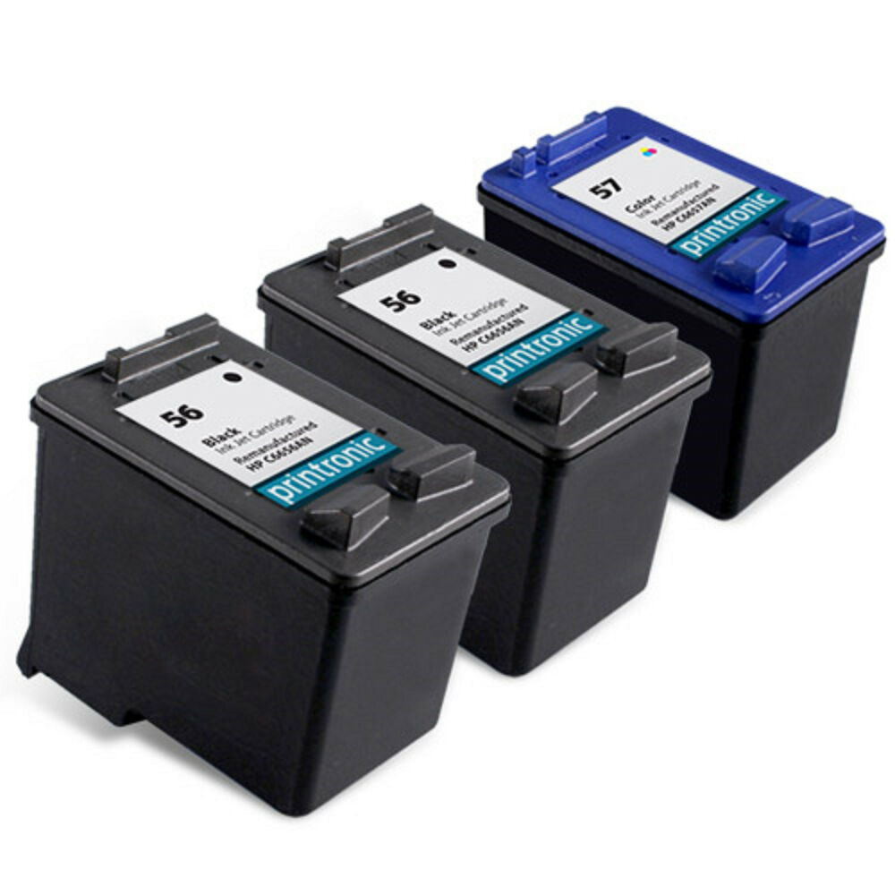 3pk hp 56 hp 57 ink cartridge c6656an c6657an for deskjet 450 5150 5550 5650 ebay. Black Bedroom Furniture Sets. Home Design Ideas