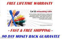 6 - INCH 24AWG Cat5e Network RJ45 Patch Panel Cable 350MHz UTP Ethernet - Pink