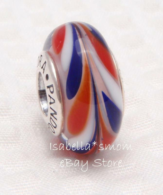 all american authentic pandora silver white blue