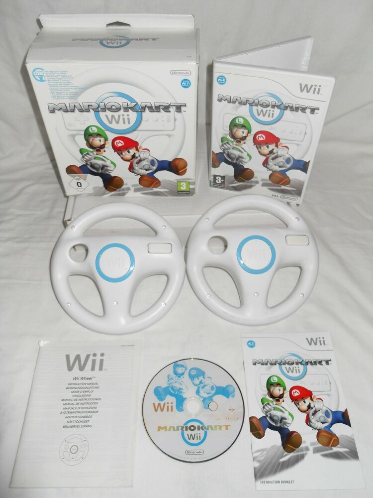 Wii U Games For Girls : Mario kart genuine official steering wheels nintendo wii