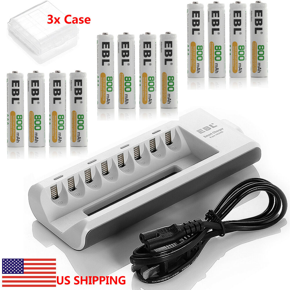 16x aaa 800mah ni mh rechargeable batteries 8 channel aa. Black Bedroom Furniture Sets. Home Design Ideas