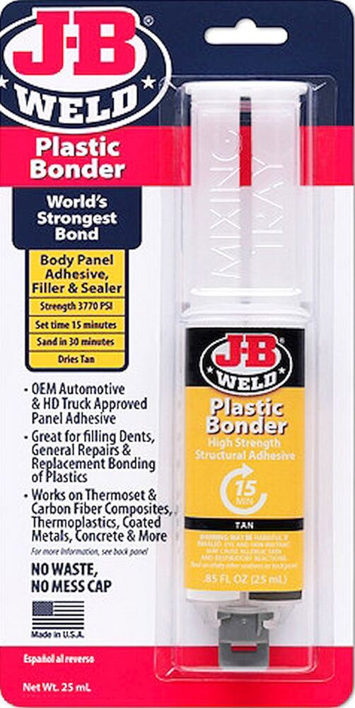 J b weld plastic bonder bond adhesive filler sealer repair for Marble filler repair