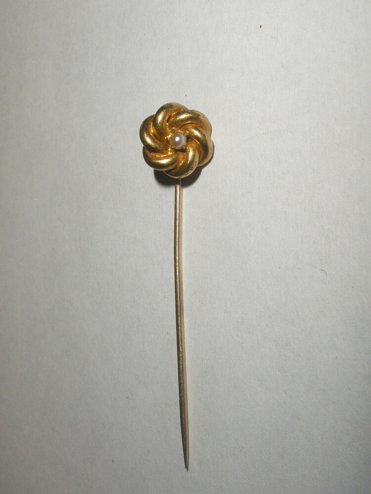 Antique 14k Gold Vintage Stickpin Stick Pin Pearl Ebay