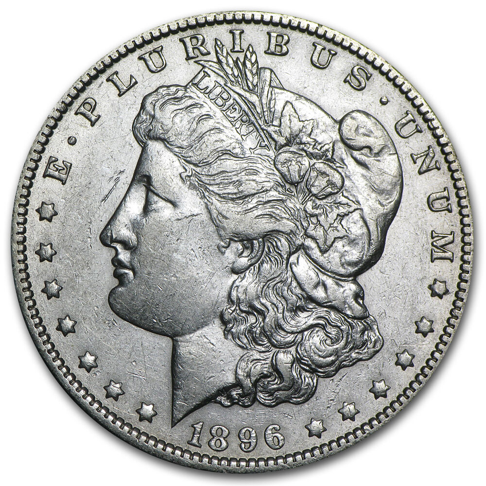1896 O Morgan Silver Dollar Coin Almost Uncirculated