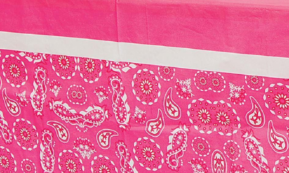 Decoration girls cowgirl pink bandana print plastic table cover ebay