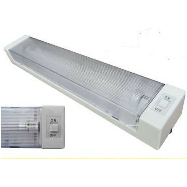 Fluorescent Light Goes On And Off: NEW Single 12V Volts Fluorescent Tube Strip Light Car Boot