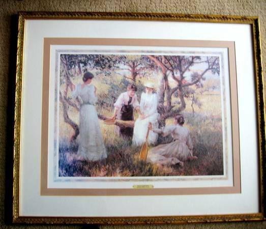 The Engagement Ring Large Victorian Matted & Framed Print ...