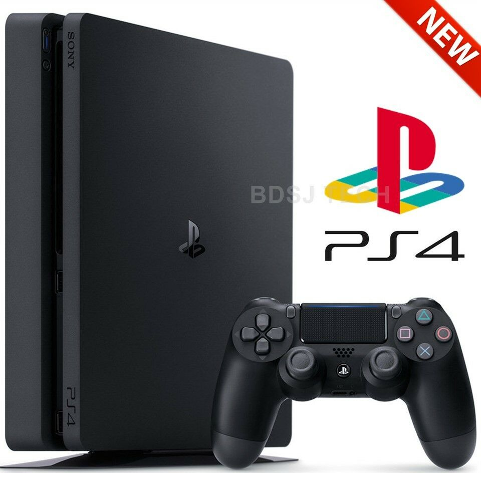 playstation 4 slim 500gb console ps4 black sony retail. Black Bedroom Furniture Sets. Home Design Ideas