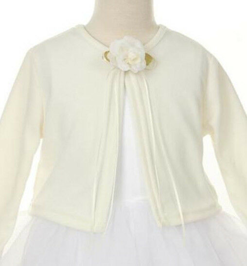 Girl Ivory Knit Long Sleeve Easter Spring Church Cardigan