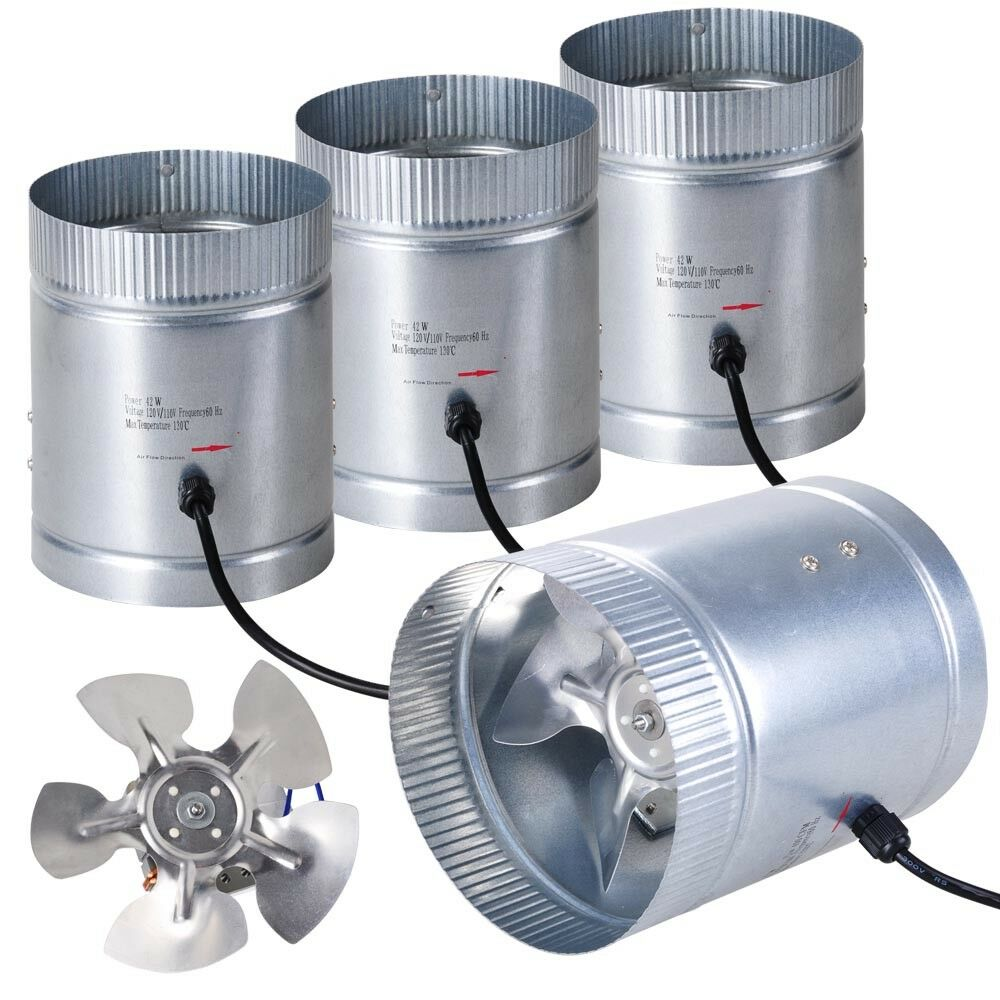4 Inline Exhaust Fan : Inline duct booster fan quot cfm exhaust blower for