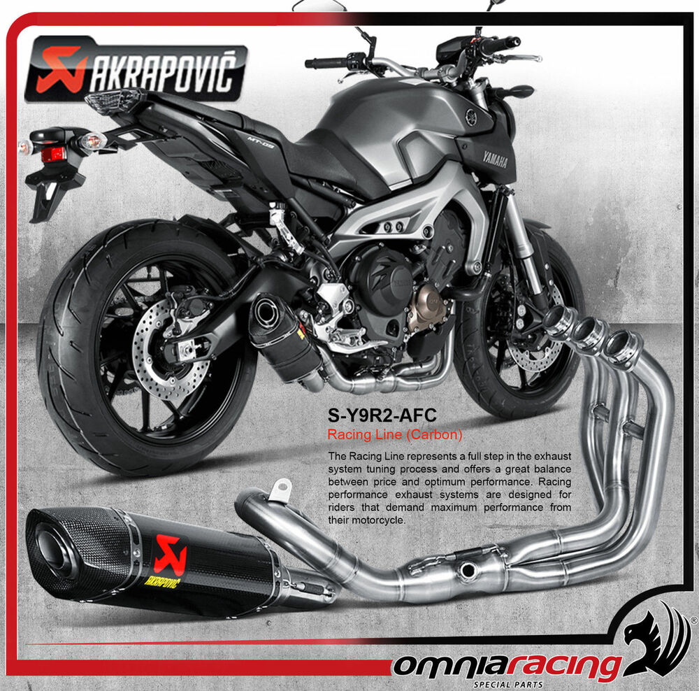 akrapovic s y9r2 afc yamaha fz 09 mt 09 13 full. Black Bedroom Furniture Sets. Home Design Ideas