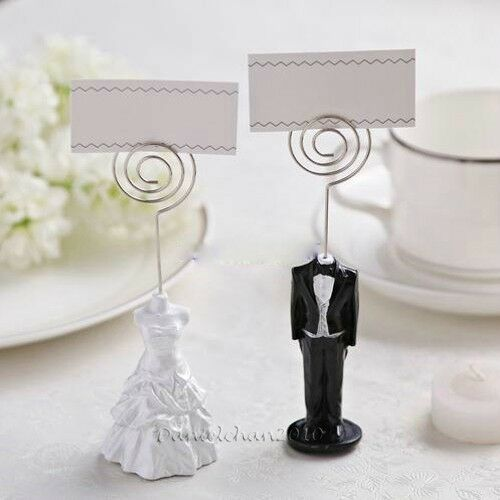 Wedding Bomboniere Table Place Card Stand Memo Holder Bride Dress ...