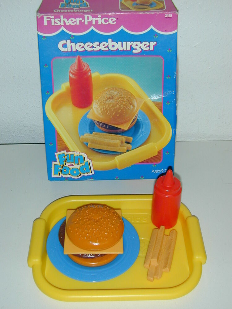 Fisher price fun with food cheeseburger fries ketchup tray - Cuisine bilingue fisher price ...