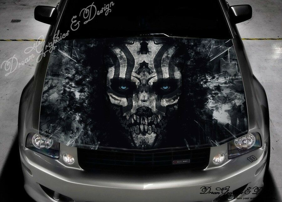 Evil Skull Full Color Graphics Adhesive Sticker Fit Any